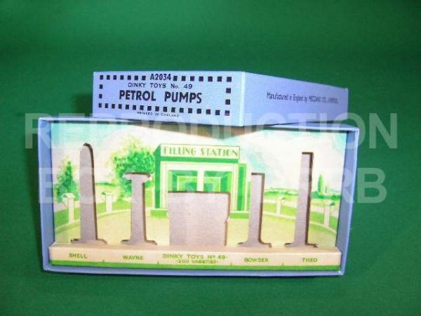 Dinky # 49 Petrol Pumps - Reproduction Box